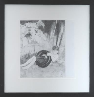 """ללא כותרת, 2004, גרפיט על נייר, 30 x 33 ס""""מ"""