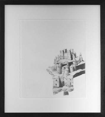 """ללא כותרת, 2004, גרפיט על נייר, 35 x 39 ס""""מ"""