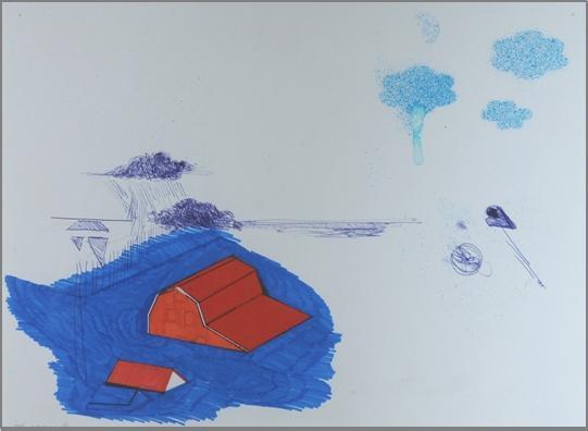 """קתרינה, 2008, טושים על נייר, 50 x 40 ס""""מ"""