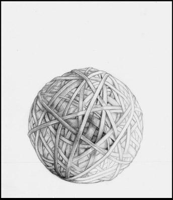 """ללא כותרת, 2004, גרפיט על נייר, 25 x 30 ס""""מ"""