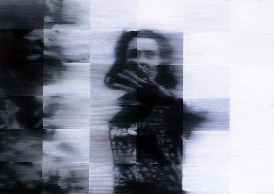 """בלו אפ, 1994, שמן על בד, 140 x 120 ס""""מ"""