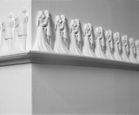"""""""ללא כותרת"""", 2004, גבס, עץ, מידות משתנות"""