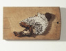 Untitled Mom, 1995, embroidery strings and nails on wooden cutting board, 12.5 x 22 x 2 cm
