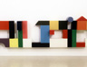 Happyending, 2000, toy bricks, acrylic, 75 x 290 x 12 cm
